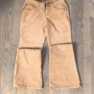Juniors SO Size 1 Corduroy 5 Pocket Flare Leg Jean